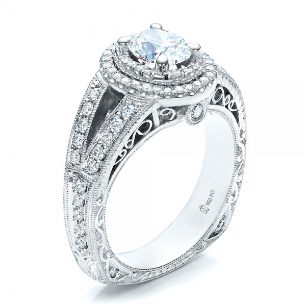Custom Oval Diamond Engagement Ring Bellevue Seattle Joseph Jewelry