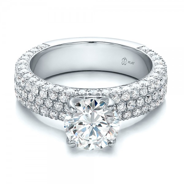 custom pave engagement ring 100770 bellevue