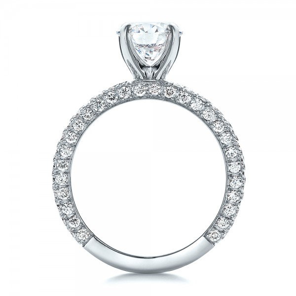 custom pave engagement ring 100770 bellevue