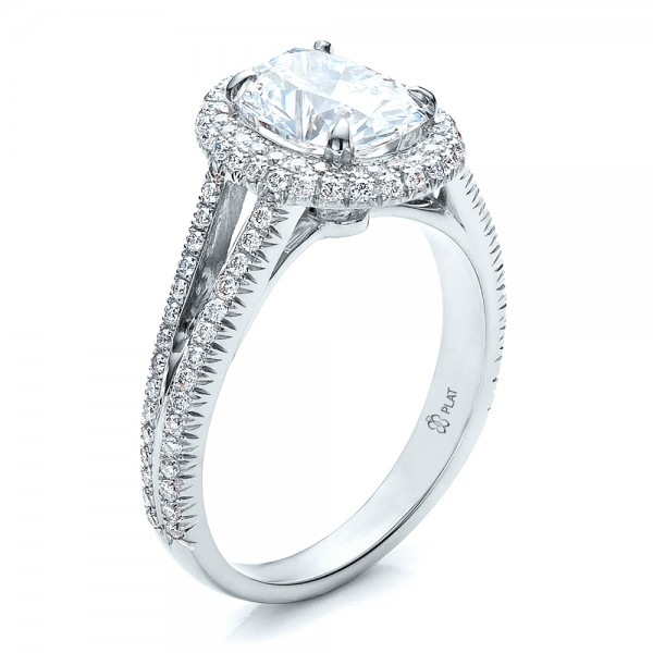 custom pave halo engagement ring engagement rings