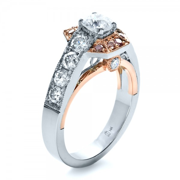 Custom pink diamond engagement ring 1168 bellevue seattle for Pink diamond wedding rings