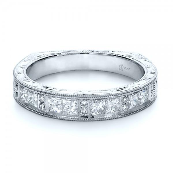 Custom Princess Cut Diamond Women s Wedding Band 1134 Bellevue Seattle J