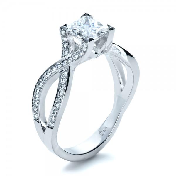 custom princess cut engagement ring bellevue seattle