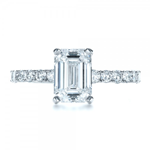 custom radiant cut engagement ring 1311 bellevue