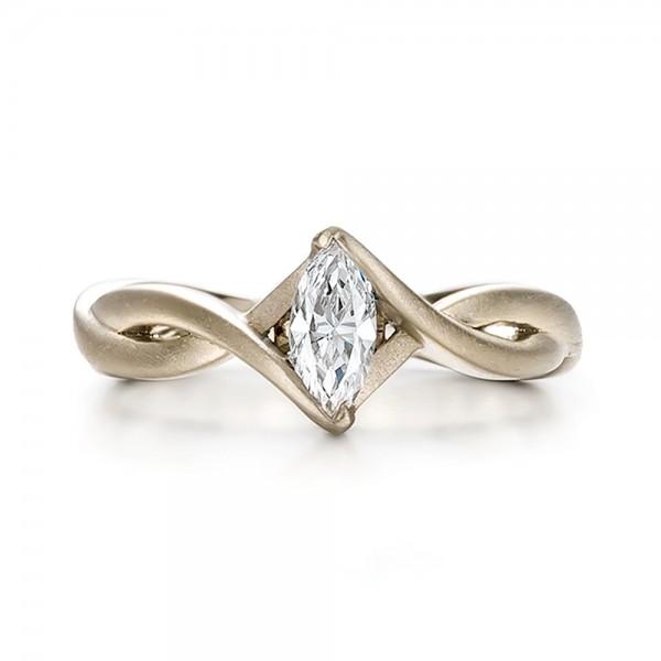 Permalink to Platinum Marquise Diamond Solitaire Ring