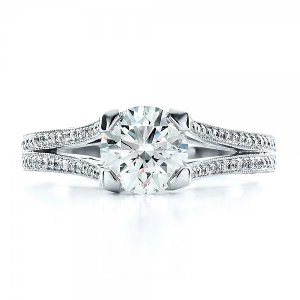custom split shank engagement ring 1440 bellevue seattle