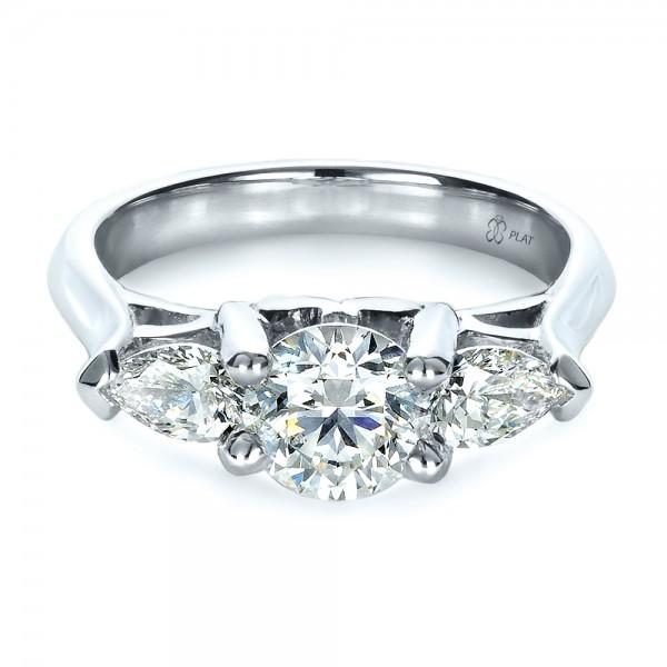Stone Wedding Rings Custom Three Stone Engagement Ring Engagement Rings Joseph Jewelry