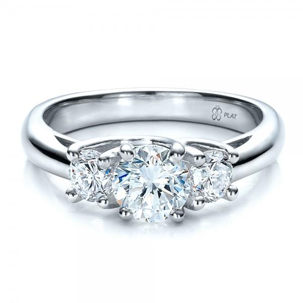 Stone Wedding Rings Jewelry Engagement Rings Custom Three Stone Engagement Ring