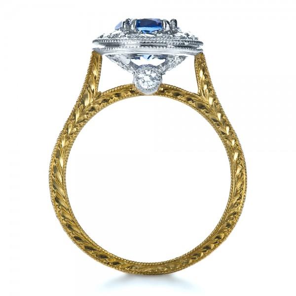 Custom Two Tone Halo Diamond Engagement Ring 1178 Bellevue Seattle Joseph Je