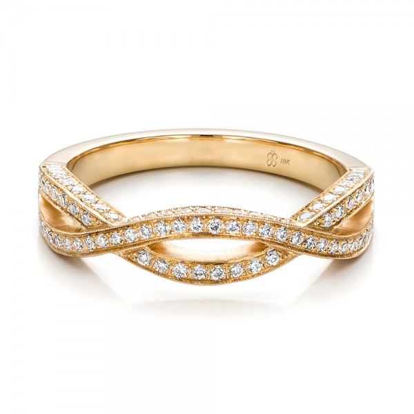 Custom Yellow Gold And Diamond Wedding Band 100854 Bellevue Seattle Joseph Jewelry