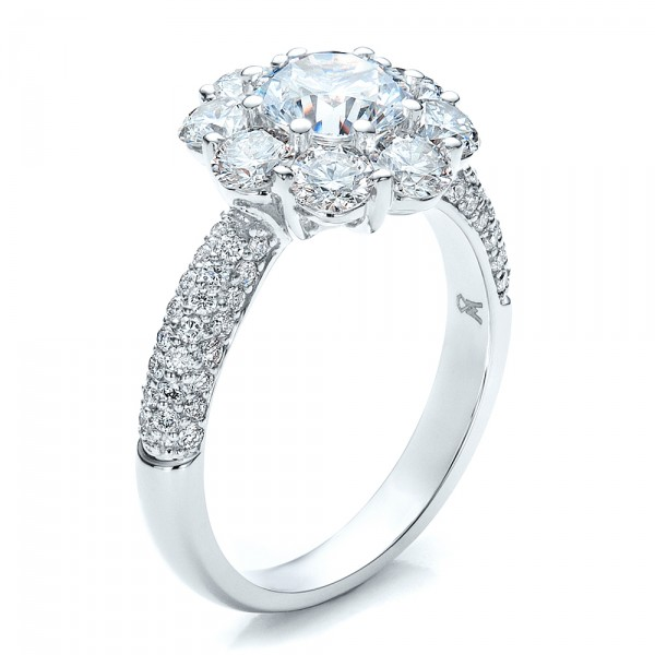 Engagement Rings-Diamond Halo Engagement Ring