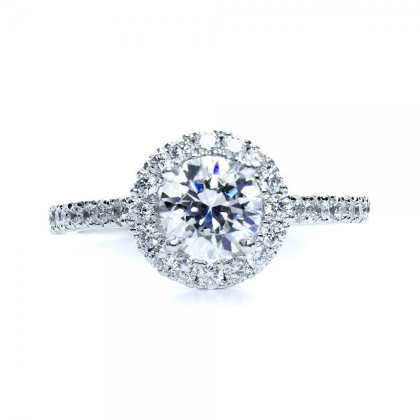 Diamond Halo Engagement Ring 161 Bellevue Seattle Joseph Jewelry