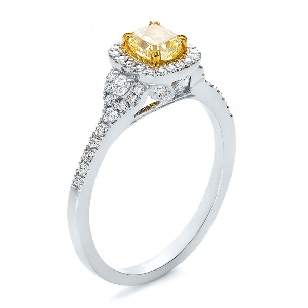 Yellow Diamond Wedding Ring Engagement Rings Fancy Yellow Diamond With Halo Engagement Ring