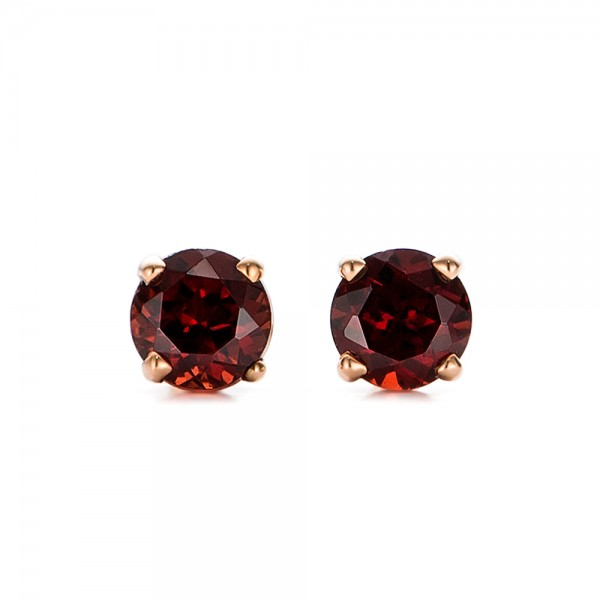 garnet stud earrings bellevue seattle joseph jewelry