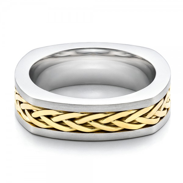 men 39 s braided two tone wedding band 100121 bellevue
