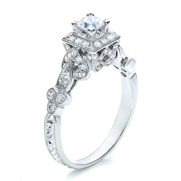 Princess Cut Diamond Engagement Ring Vanna K 100084