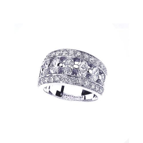 wedding rings princess and marquise diamond women s wedding band