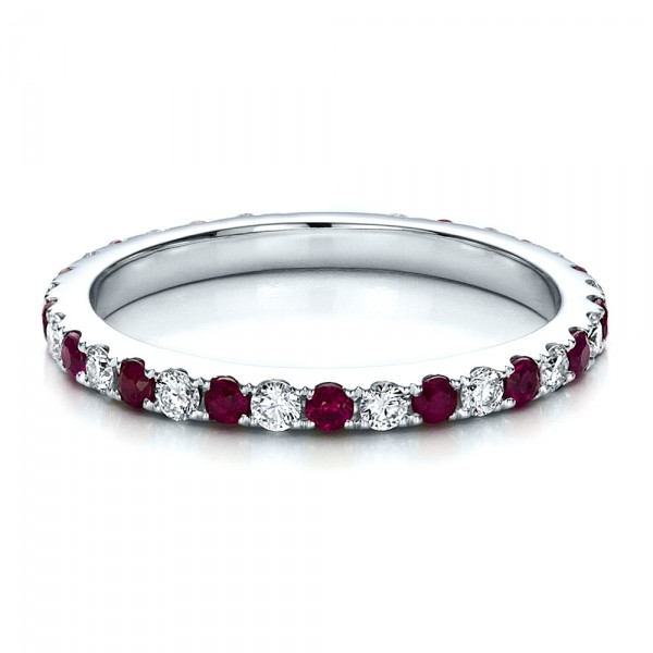 Ruby Eternity Band with Matching Engagement Ring
