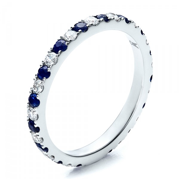 sapphire band with matching engagement ring 100001