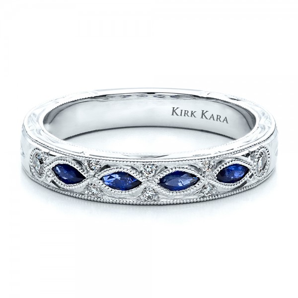 sapphire wedding band with matching engagement ring kirk