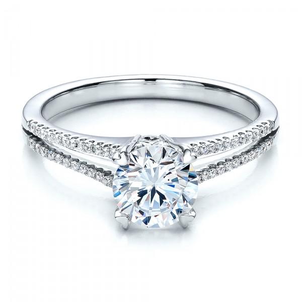 split shank engagement ring vanna k 100090 bellevue With split shank wedding ring