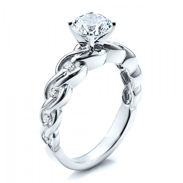 engagement ring with matching wedding band vanna