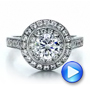18K Gold Double Halo Engagement Ring - Vanna K - Video -  100088 - Thumbnail