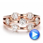 Custom Rose Gold and Diamond Engagement Ring - Interactive Video - 100249 - Thumbnail