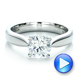 Contemporary Solitaire Engagement Ring - Interactive Video - 100397 - Thumbnail
