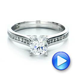 18k White Gold 18k White Gold Contemporary Channel Set Diamond Engagement Ring - Video -  100405 - Thumbnail