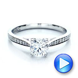 Bright Cut Diamond Engagement Ring - Interactive Video - 100406 - Thumbnail