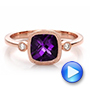 Amethyst And Diamond Ring - Video -  100453 - Thumbnail