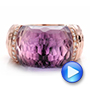 Fancy Cut Amethyst And Diamond Ring - Video -  100457 - Thumbnail