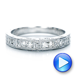 Hand Engraved Diamond Wedding Band - Kirk Kara - Interactive Video - 100467 - Thumbnail