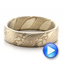 Men's Mokume Half Round Band - Video -  100523 - Thumbnail