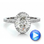 Custom Two-Tone Diamond Halo Engagement Ring - Interactive Video - 100572 - Thumbnail