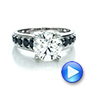 Custom Black and White Diamond Engagement Ring - Interactive Video - 100606 - Thumbnail