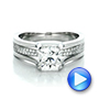 Custom Diamond Engagement Ring - Interactive Video - 100610 - Thumbnail