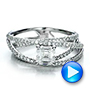 Custom Pave Diamond Multi-Band Engagement Ring - Interactive Video - 100612 - Thumbnail