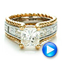 14K Gold And 18k Yellow Gold 14K Gold And 18k Yellow Gold Custom Two-tone Diamond Engagement Ring - Video -  100616 - Thumbnail