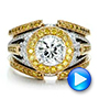 Custom Two-Tone Gold and Yellow and White Diamond Engagement Ring - Interactive Video - 100640 - Thumbnail