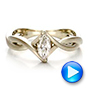 Custom Solitaire Marquise Diamond Engagement Ring - Interactive Video - 100642 - Thumbnail