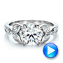 Custom Marquise Diamond Engagement Ring - Interactive Video - 100647 - Thumbnail