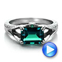 Custom Emerald and Diamond Ring - Interactive Video - 100653 - Thumbnail