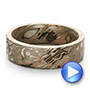 Custom Men's Mokume Wedding Band - Video -  100673 - Thumbnail
