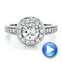 18k White Gold And 18K Gold Two-tone White And Yellow Diamond Engagement Ring - Vanna K - Video -  100683 - Thumbnail