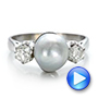 White Pearl and Diamond Ring - Interactive Video - 100765 - Thumbnail
