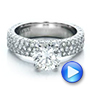 Custom Pave Diamond Engagement Ring - Interactive Video - 100770 - Thumbnail