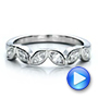 Custom Marquise Diamond Wedding Band - Interactive Video - 100779 - Thumbnail