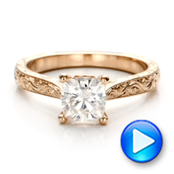 14K Gold 14K Gold Custom Solitaire Engagement Ring - Video -  100780 - Thumbnail